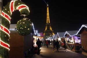 Christmas Market on the Trocadero in Paris, France, 2014.