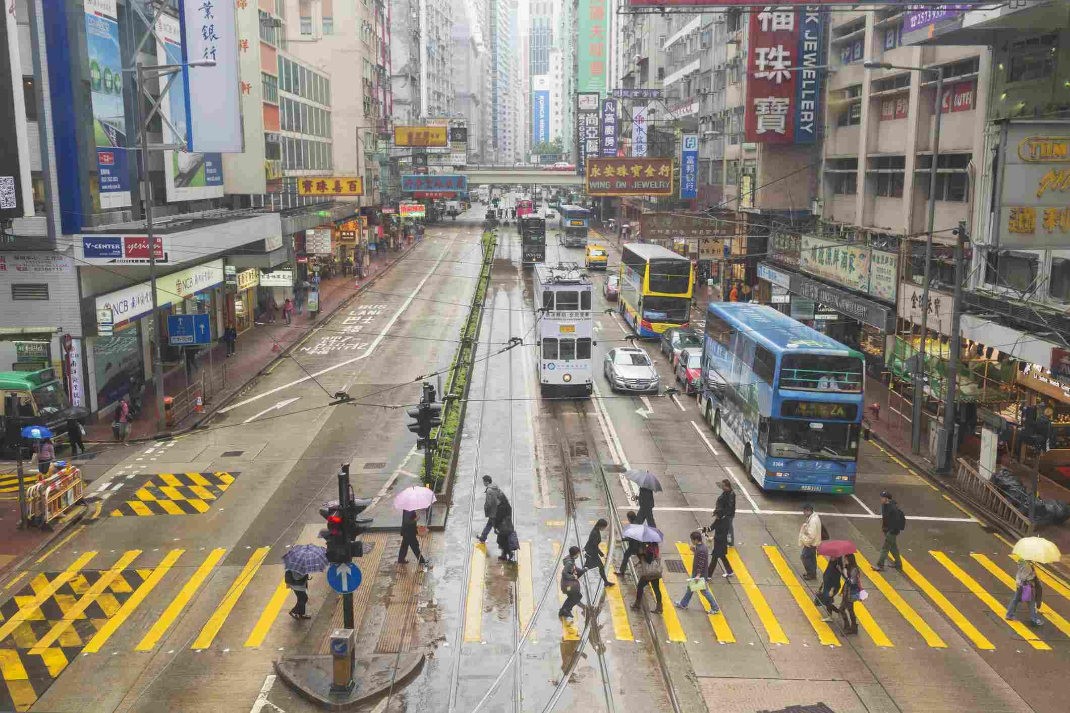 Hong Kong, China. Hennessy Road , Causeway Bay.