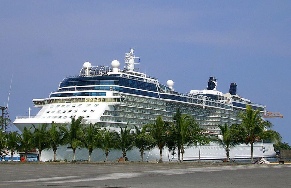Equinox at Cruise Ship Pier in Limon, Costa Rica