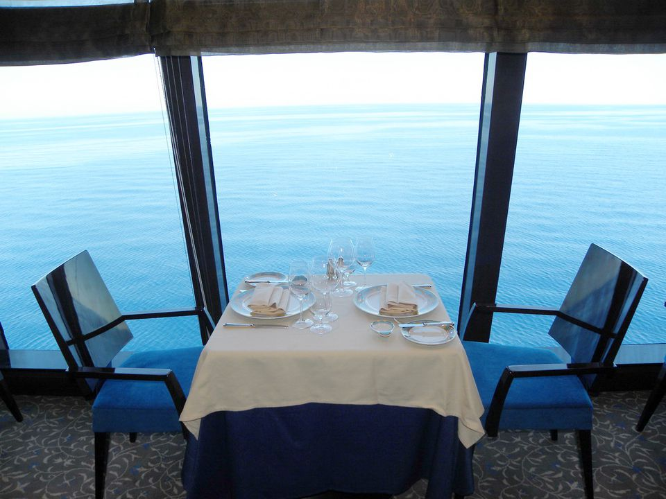 Dining On The Riviera Of Oceania Cruises - Table for two restaurant