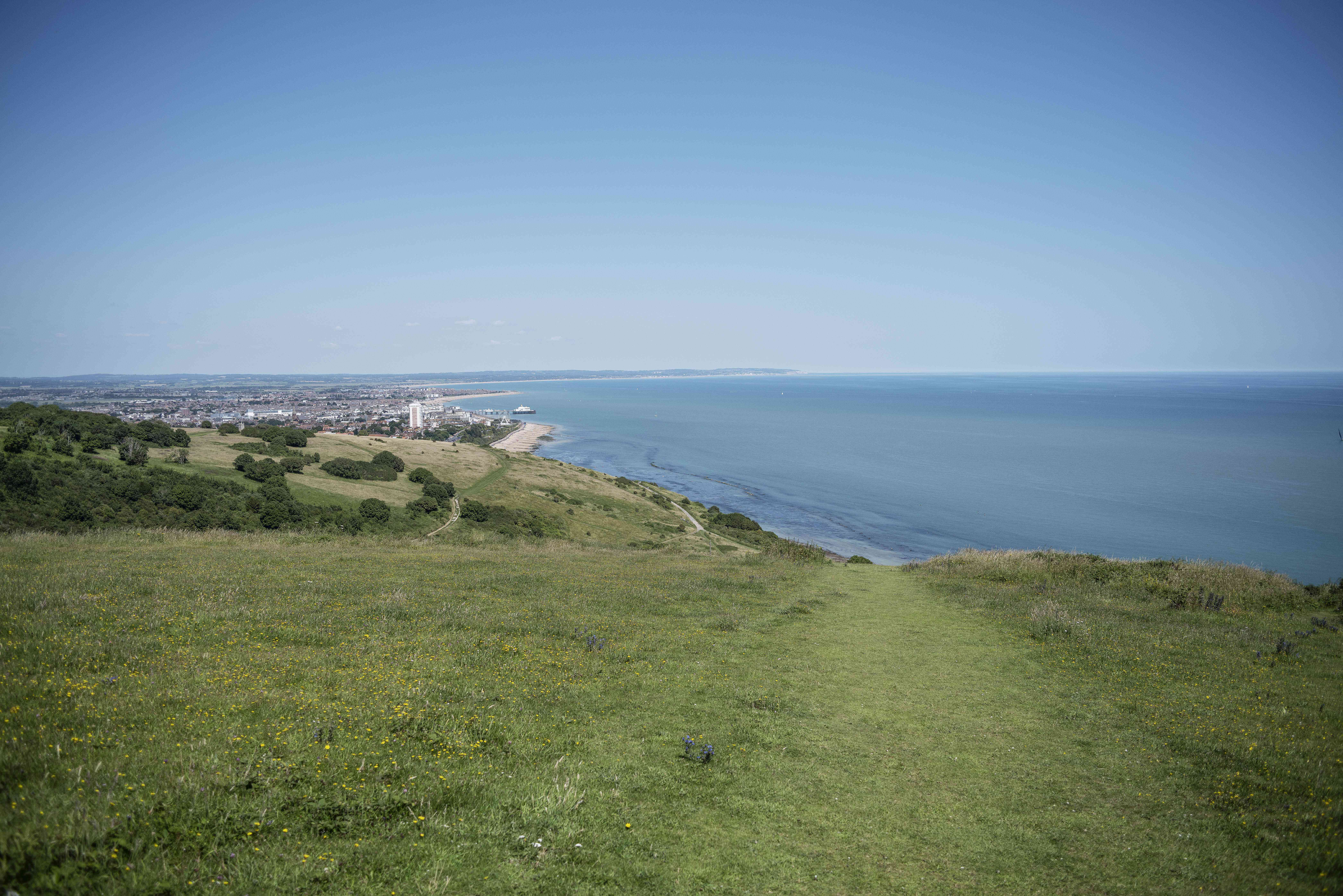 South Downs Way in Eastbourne, England