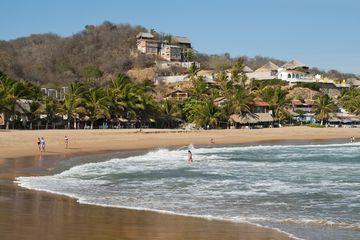 The beach at San Agustinillo.
