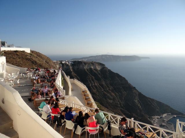 View of Santorini caldera from the Santos Winery