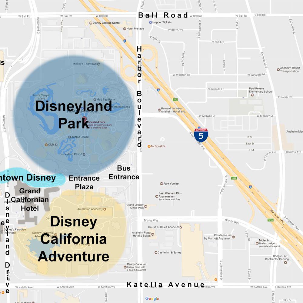 Maps of the Disneyland Resort Map Of Anaheim Hotels on crowne plaza anaheim, map of harbor blvd anaheim, weather anaheim,