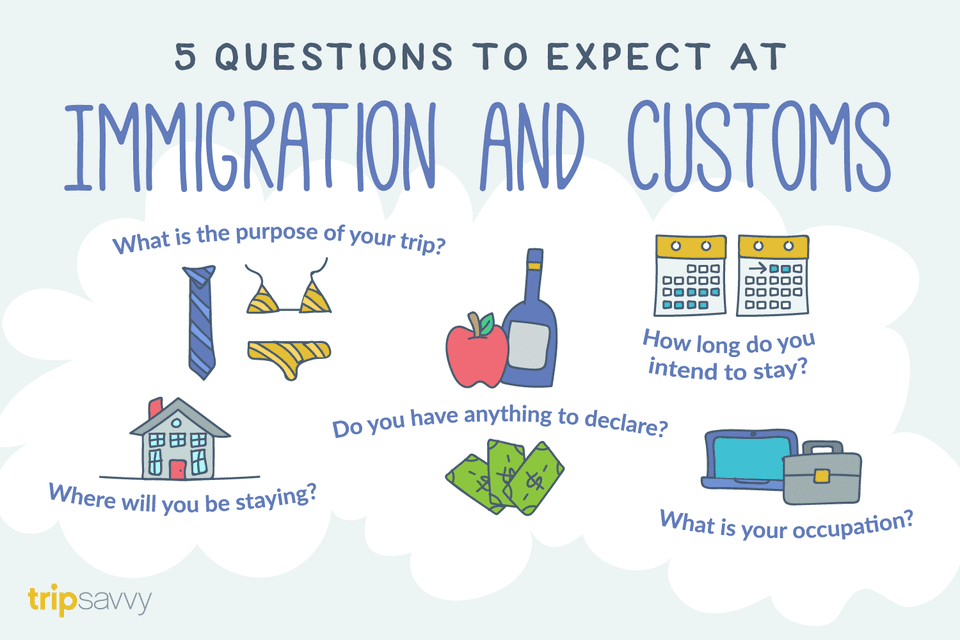 The top questions to expect at immigrations and customs