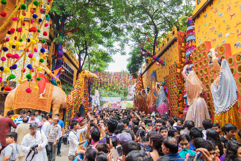 Durga Puja Pandal at Kolkata.
