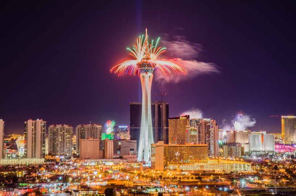 Las Vegas Rings in New Year with Fireworks