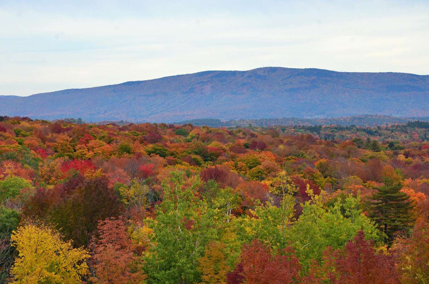 Vermont's Bromley Overlook in the Fall