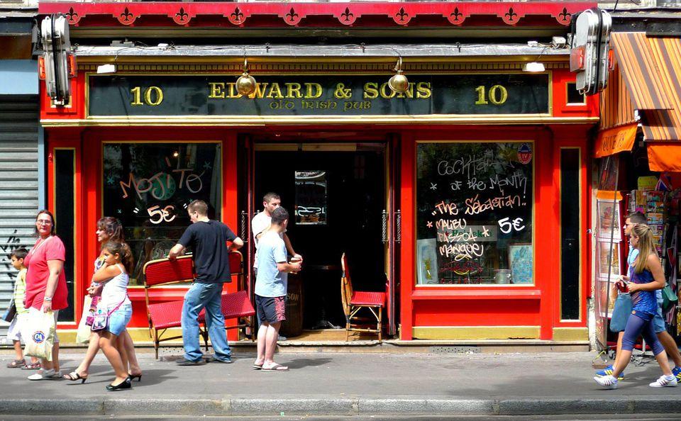 A traditional Irish pub in Paris France