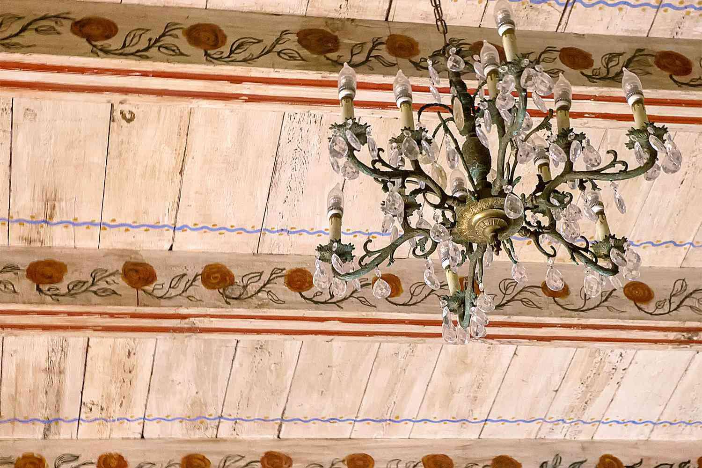 Ceiling Decoration at Mission Carmel