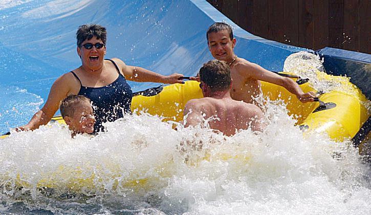 Boomerang Bay water park at California's Great America.