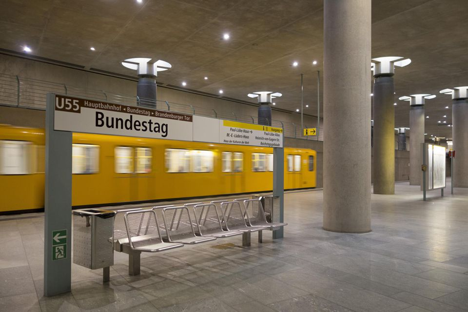 Tube station, Bundestag, Berlin, Germany