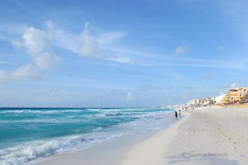 The pristine beach in Cancun's hotel zone is certainly appealing