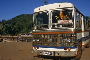 Bus in Goa.