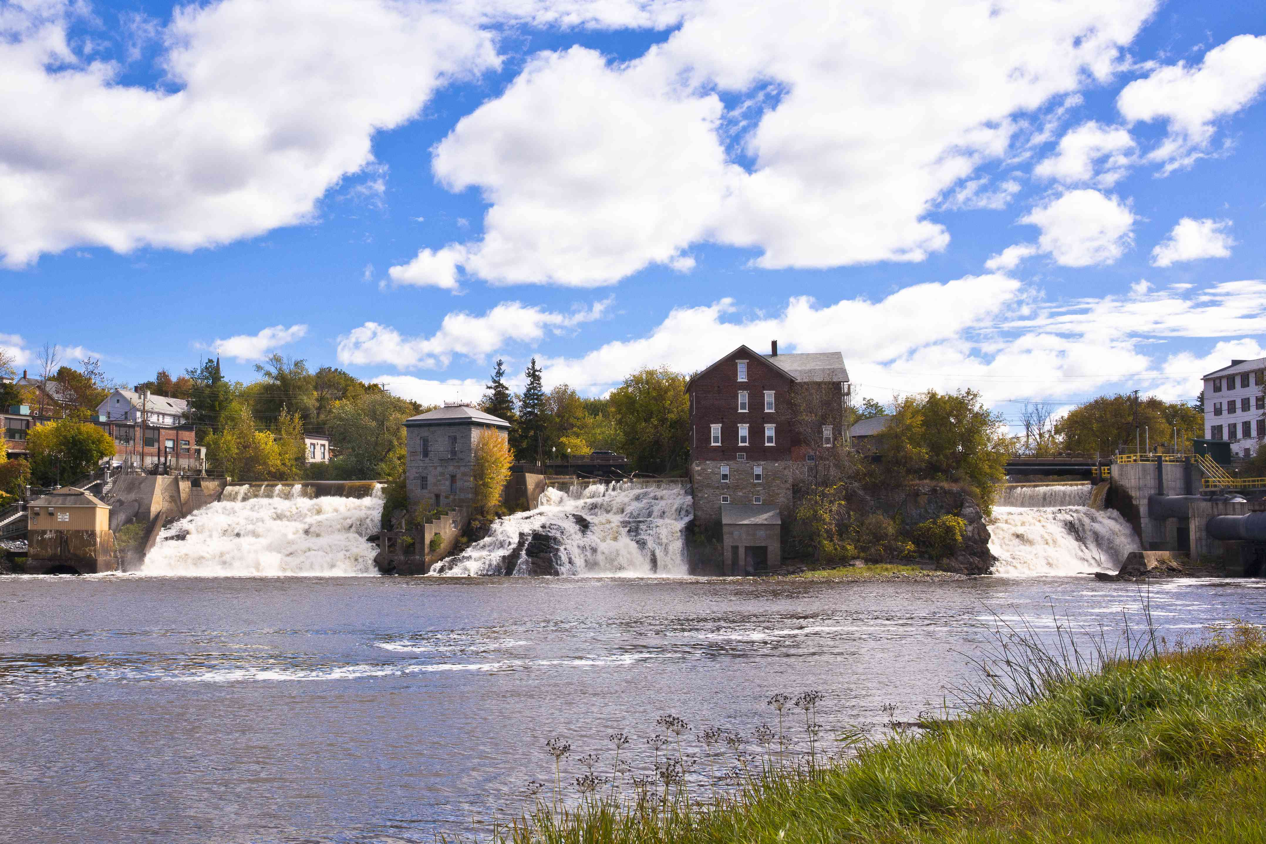 The falls on Otter Creek in Vergennes, Vermont