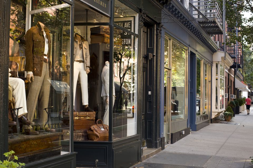 Designer Fashion Shops On Bleecker Street, Greenwich Village, New York City, New York, United States