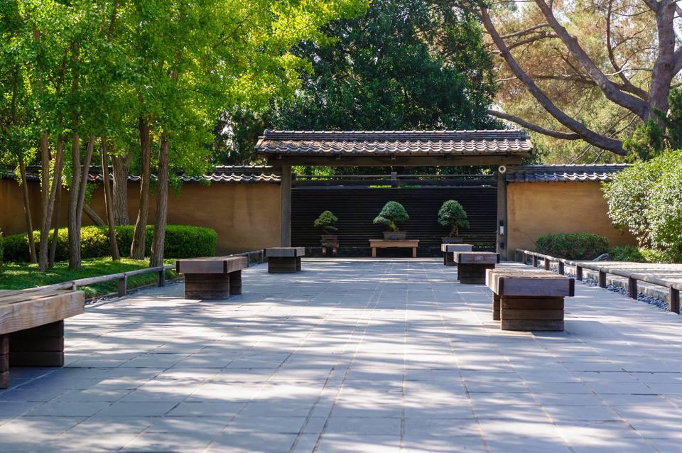 Pathway down Zen garden