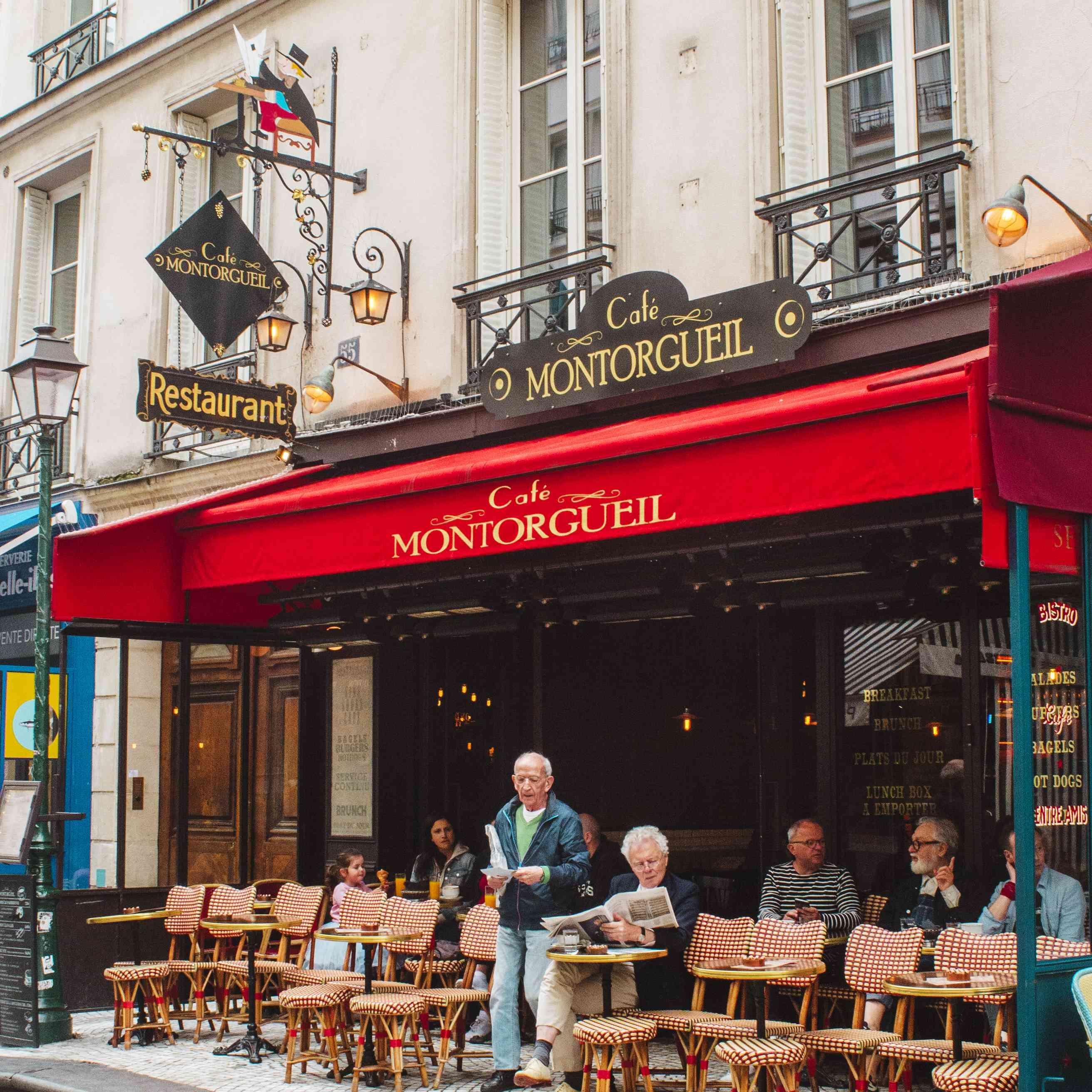 Cafe on Rue Montorgueil