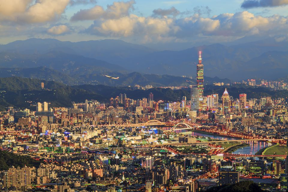 taipei city view, taiwan