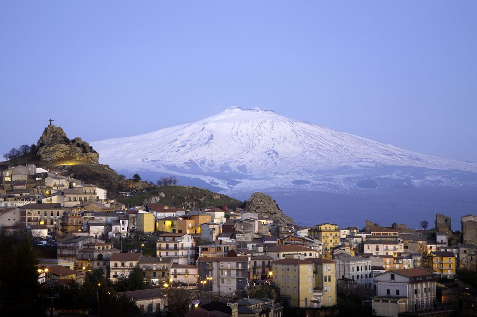 San Teodoro and Etna volcan, sicily