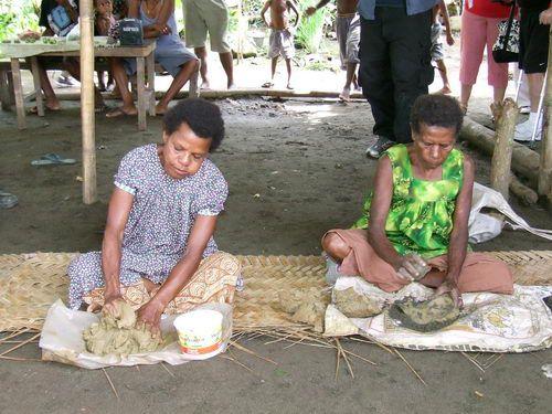 Making Pottery in BilBil Village near Madang, Papua New Guinea