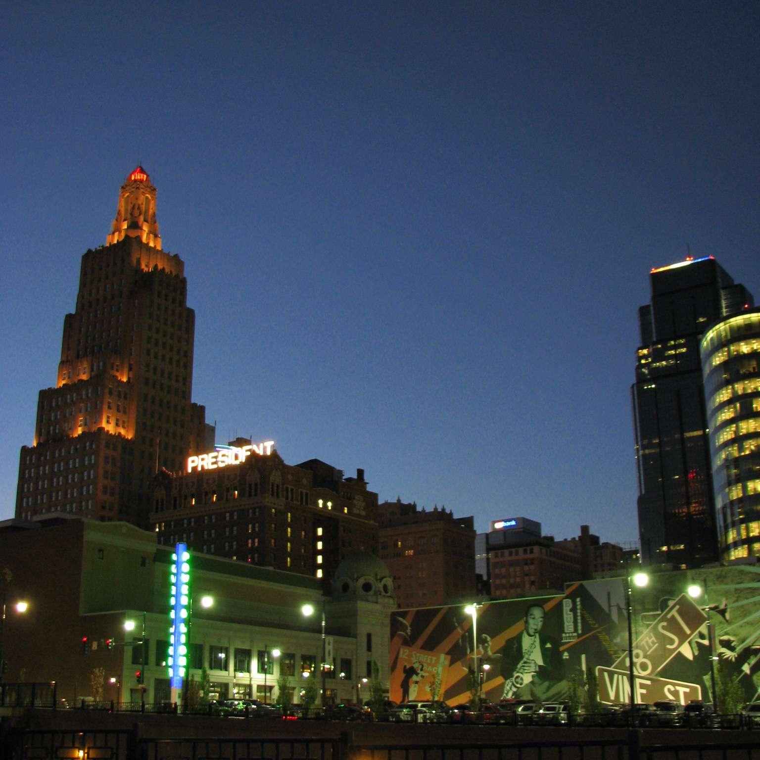 Kansas City at night