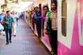 Mumbai local train.