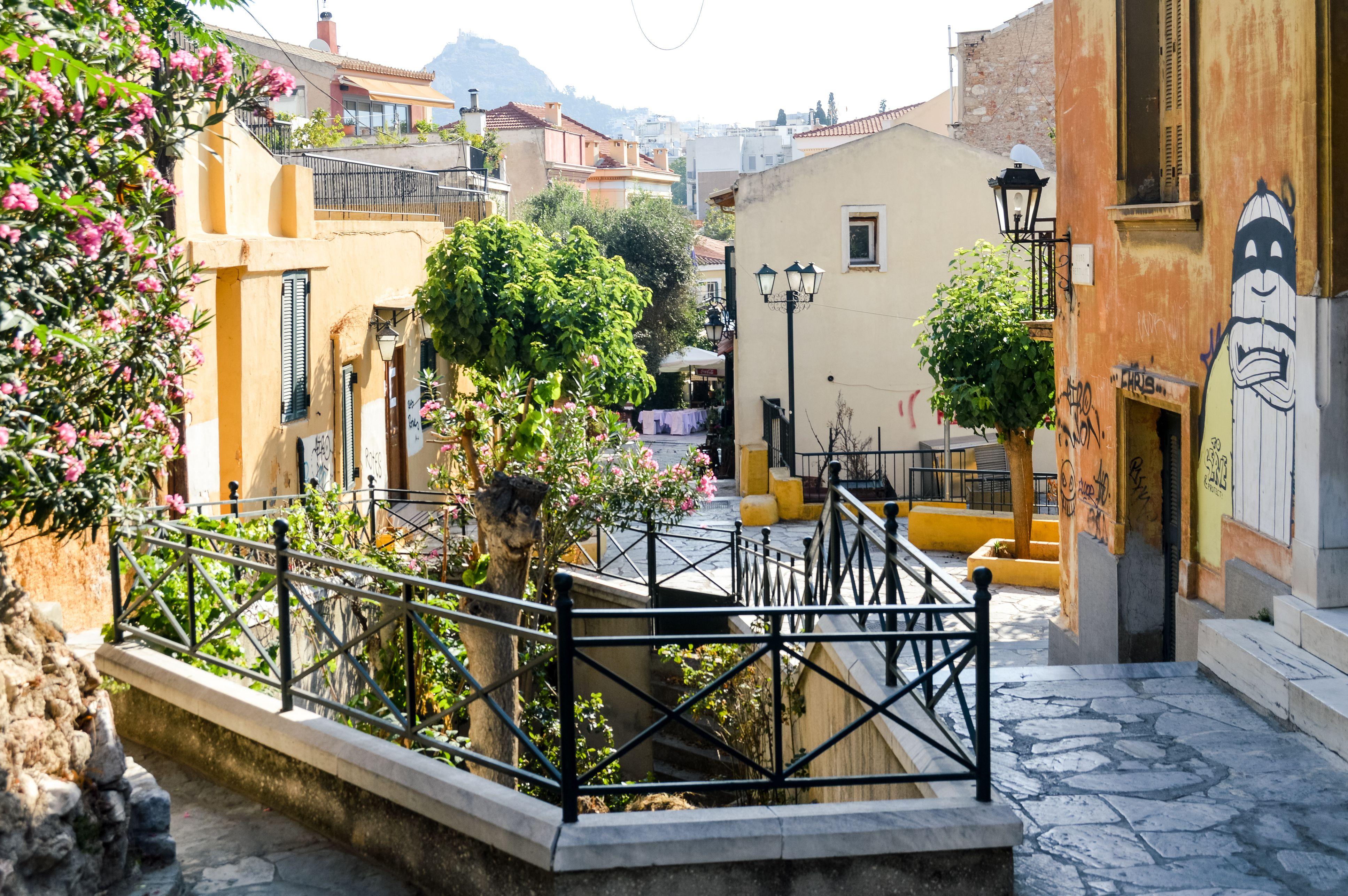 Barrio de Plaka en Atenas, Grecia