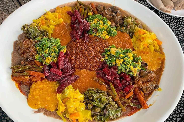 Ethiopian food at Bunna Cafe in Brooklyn