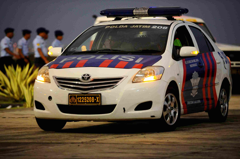 Police car in Indonesia