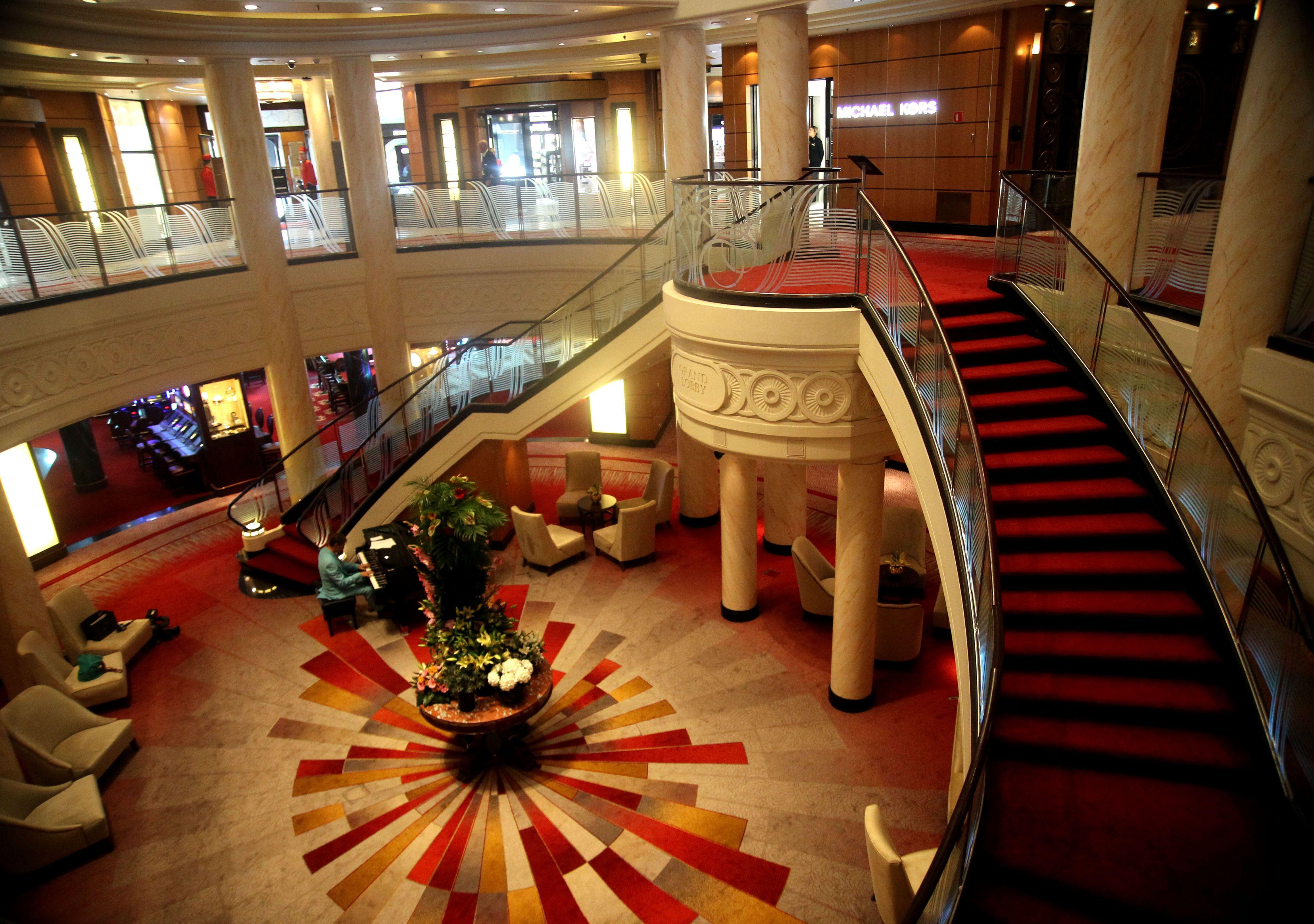 Queen Mary 2 Ocean Liner Atrium