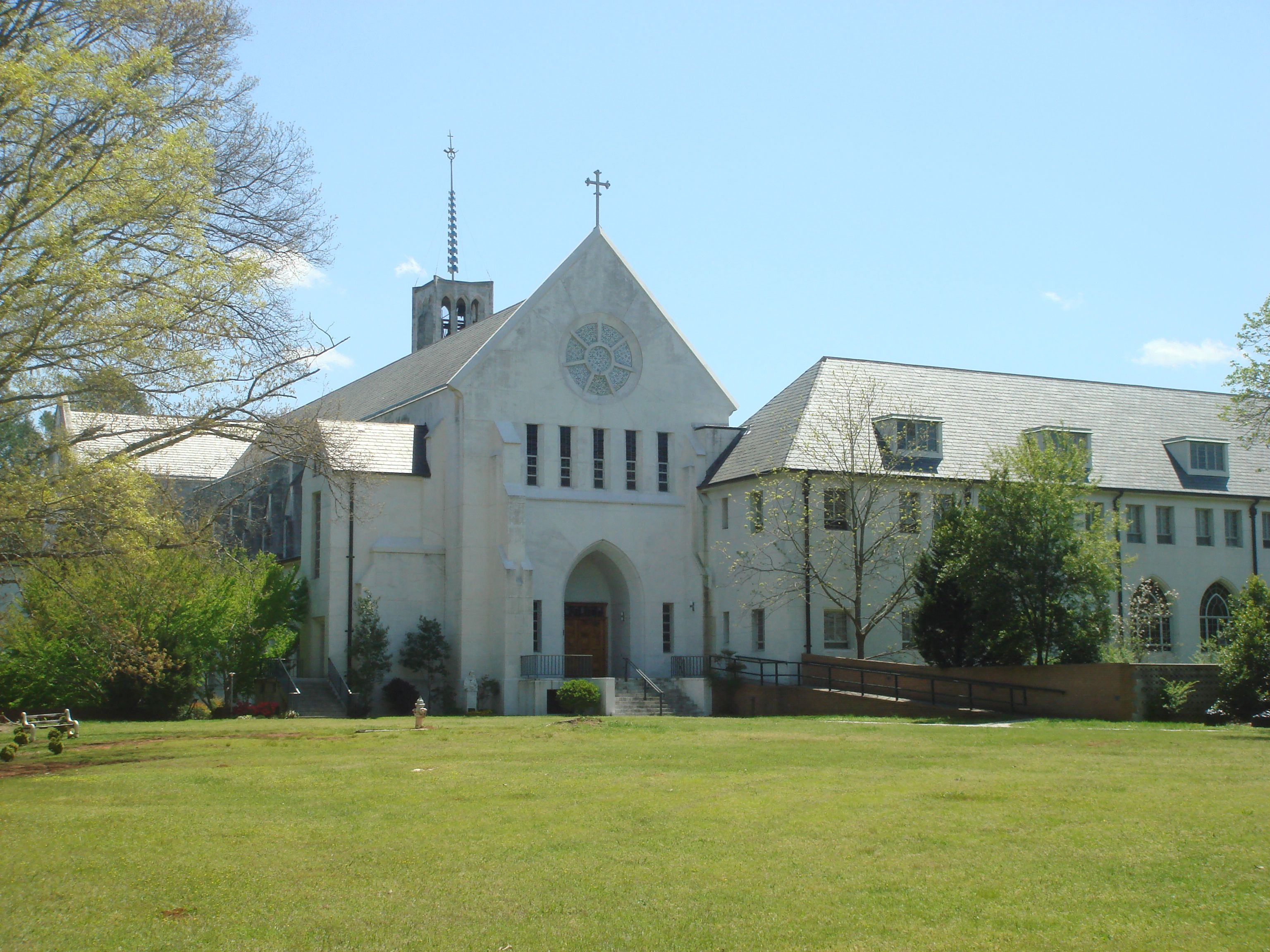 Holy Spirit Monastery church facade