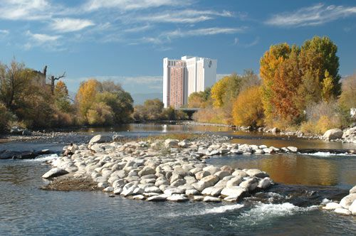 Truckee River at Rock Park in Sparks, Nevada, NV