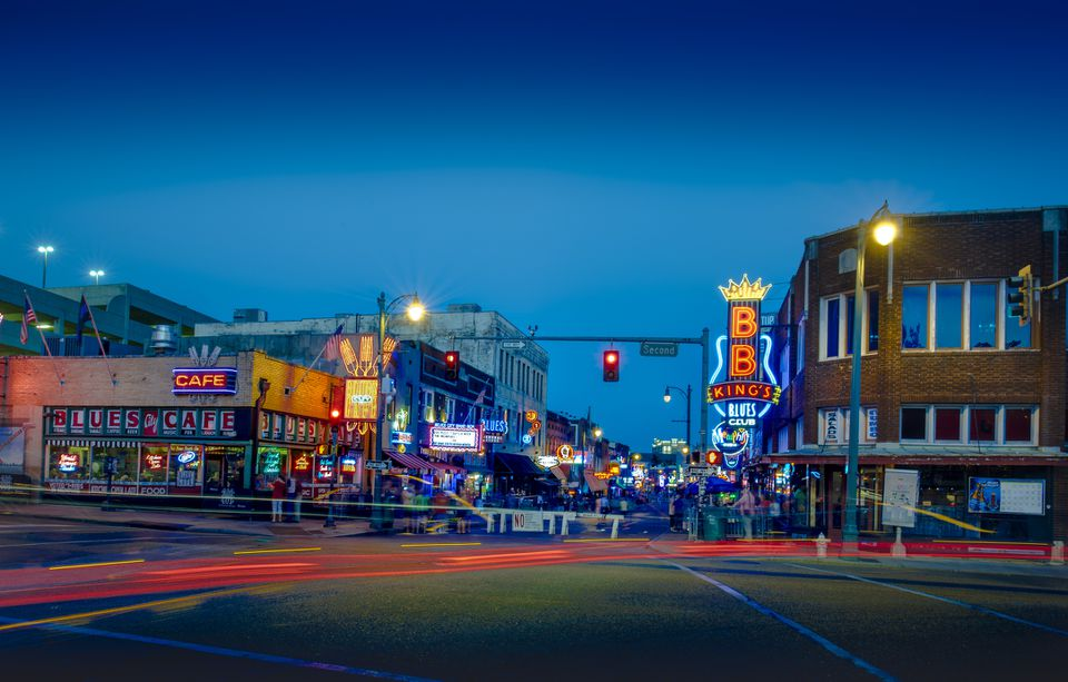 Beale Street en Memphis, Tennessee