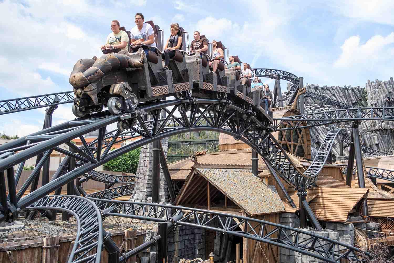 Taron roller coaster, Phantasialand, Cologne, Germany