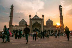 Jama Masjid during sunset