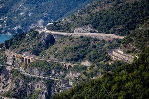 The Coast Road in Amalfi Coast, Italy
