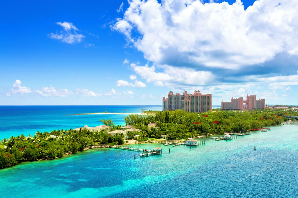 Caribbean beach resort at Nassau, Bahamas.