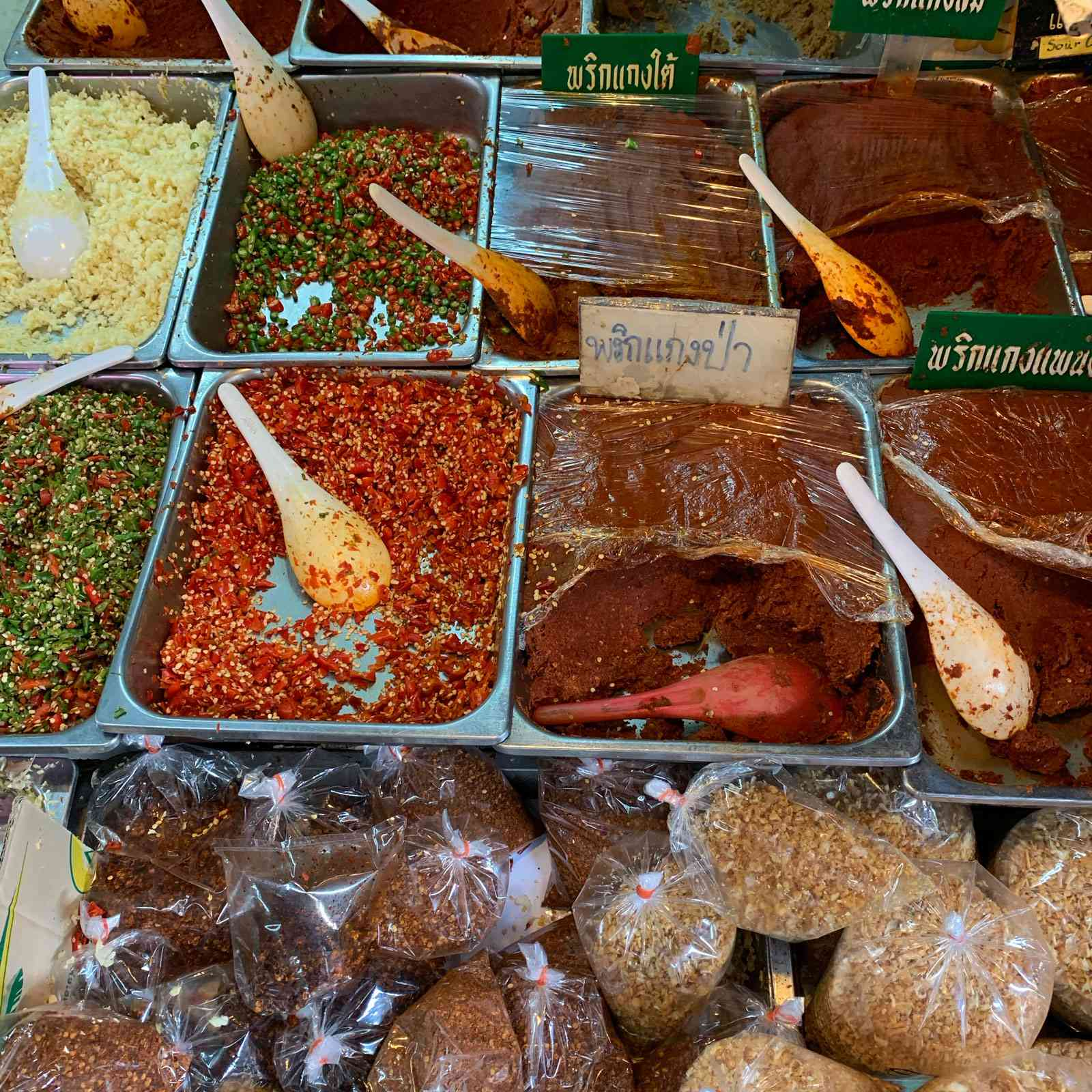 Chile paste at Thewet Market