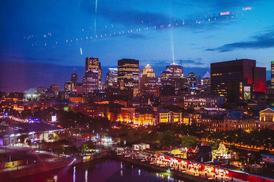 Montreal's Skyline at night
