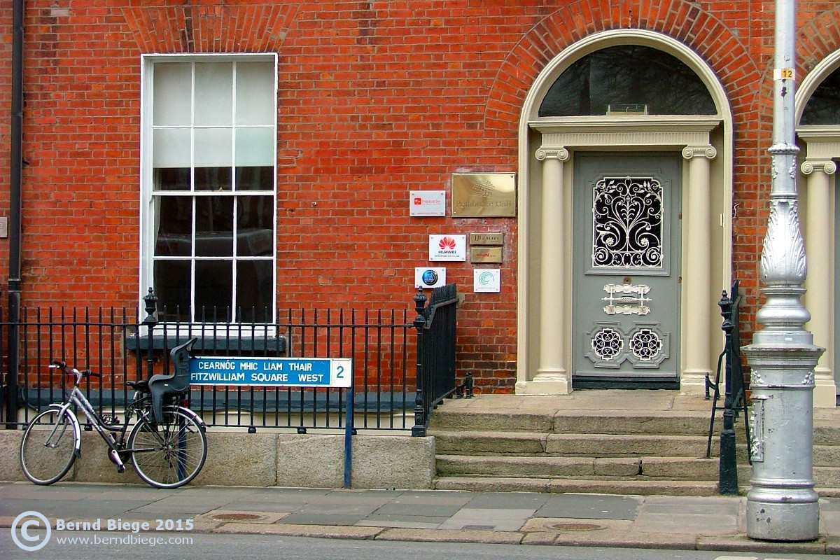 Doors of Dublin - a fine example in Fitzwilliam Square.