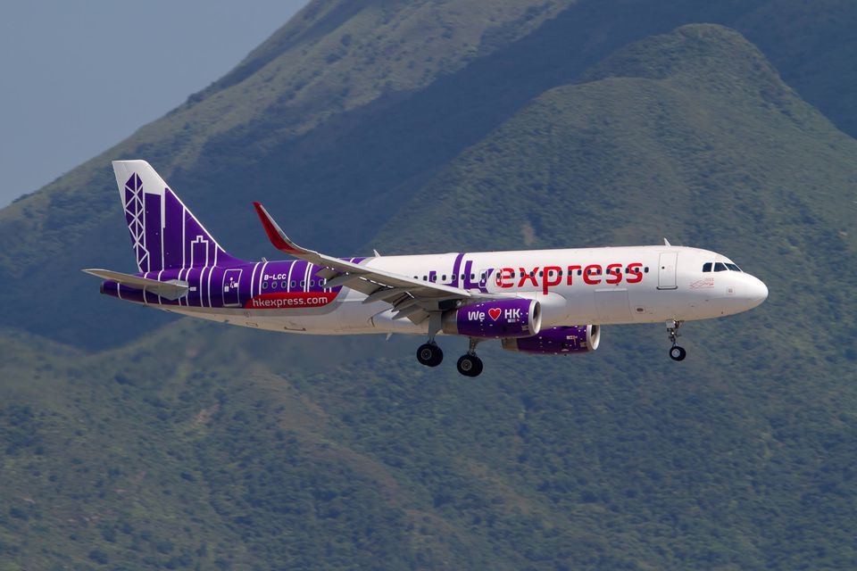 Hong Kong express plane in Hong Kong