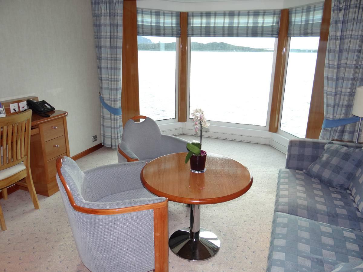 Midnatsol Sol Grand Suite Sitting Area - Hurtigruten Coastal Liner Accommodations