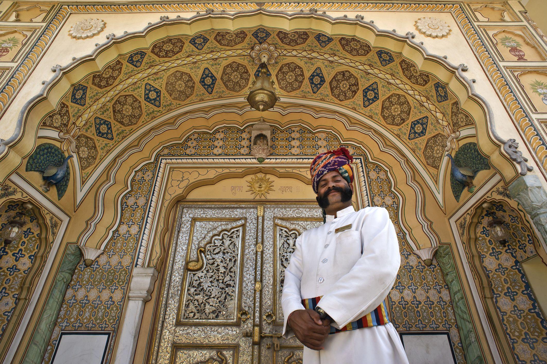 Palace hotel in Jaipur.