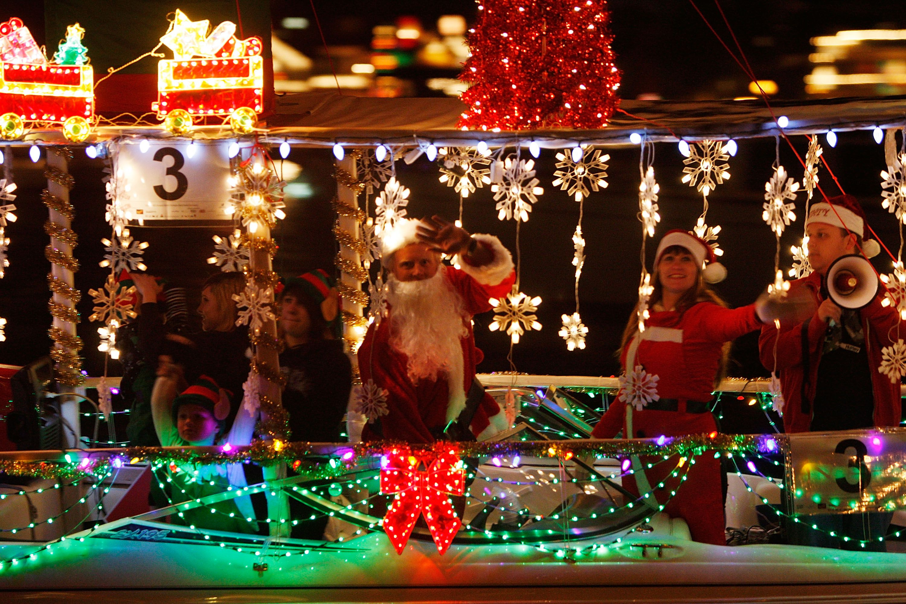 newport beach christmas boat parade viewer guide