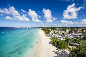 Caribbean, Antilles, Lesser Antilles, Barbados, Beach near Garrison