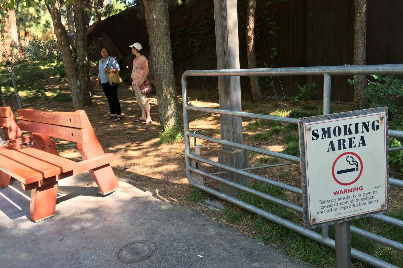 Smoking Area at Disney California Adventure
