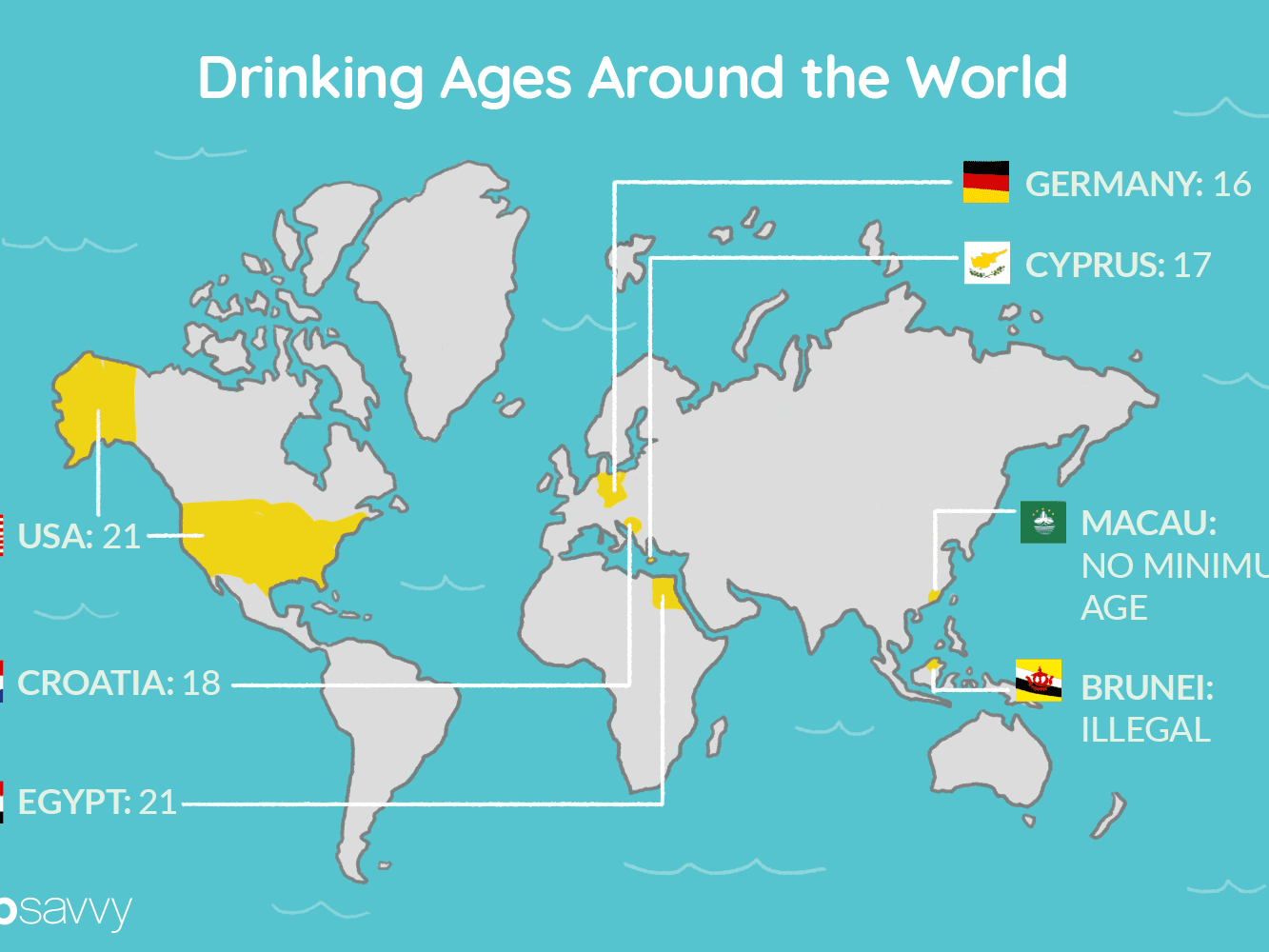 Drinking Age World Map | Current Red Tide Florida Map