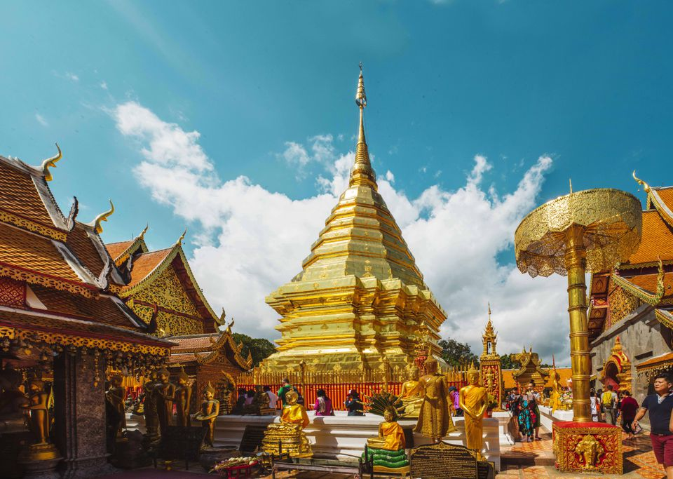golden temple at wat doi suthep