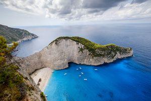 Greece's scenic coastline.
